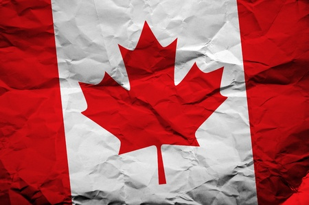 overlaying: Grunge Canada flag, image is overlaying a detailed grungy texture Stock Photo