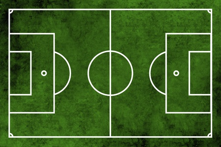 football pitch: Grunge textured illustration of a football pitch or soccer field