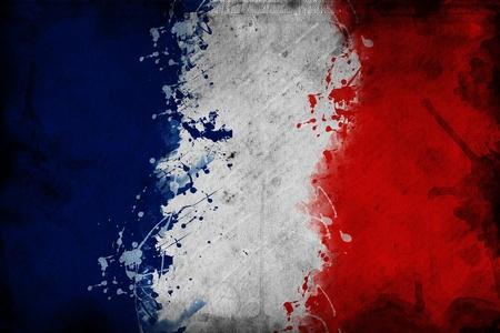 bandera francia: Bandera de Francia, la imagen es la superposici�n de una textura sucia.