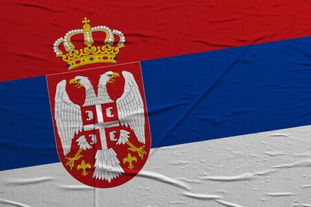 overlaying: Grunge Serbian flag, image is overlaying a detailed grungy texture