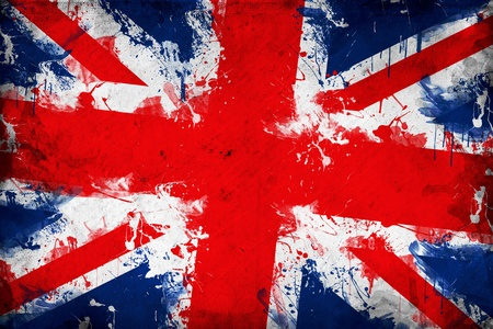 old english: Grunge Great Britain flag, image is overlaying a detailed grungy texture