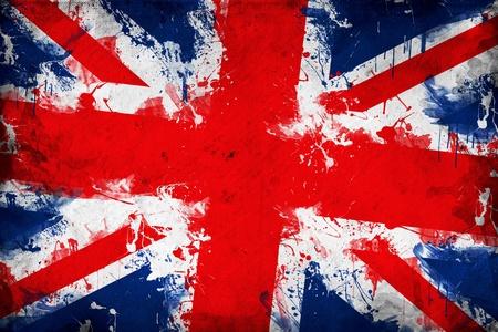 Briten: Grunge Gro�britannien Flagge wird das Bild �berlagern eine detaillierte grungy Beschaffenheit Lizenzfreie Bilder