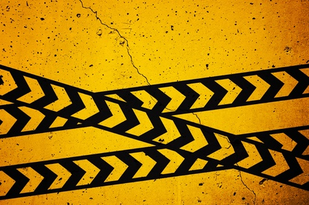 Black and yellow  under construction  sign over a grunge texture Stock Photo