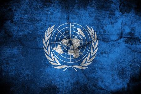 unicef: Grunge bandiera delle Nazioni Unite, l'immagine viene sovrapposta una trama dettagliata grungy