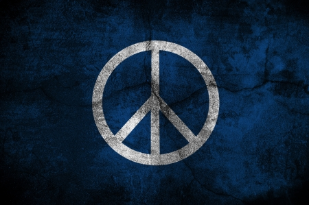 peace flag: Grunge Peace protest flag, image is overlaying a detailed grungy texture Stock Photo