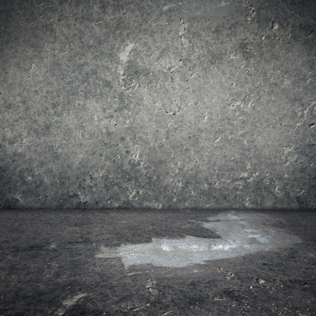 stained concrete: Obsolete gray grunge concrete room, urban texture background Stock Photo