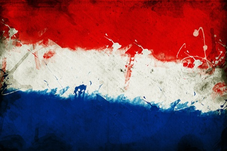 overlaying: Flag of Croatia, image is overlaying a grungy texture  Stock Photo