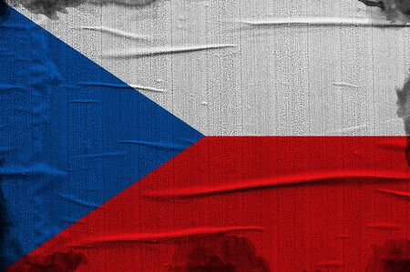 Grunge Czech flag, image is overlaying a detailed grungy texture photo
