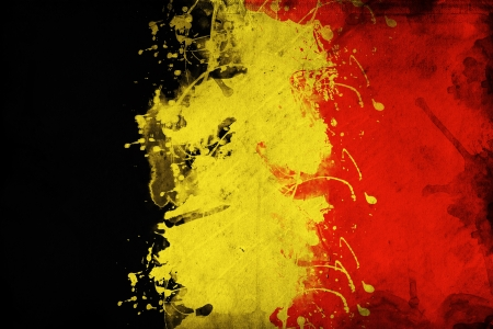 belgium flag: Grunge Belgium flag, image is overlaying a detailed grungy texture