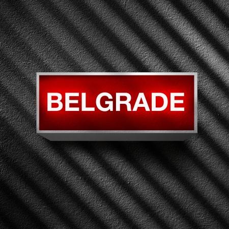light display: Belgrade vintage electric red light display over a dark, grunge background