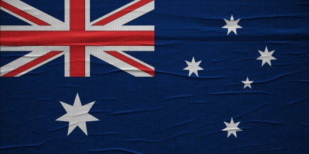 overlaying: Grunge Australian flag, image is overlaying a detailed grungy texture