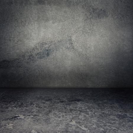 Obsolete gray grunge concrete room, urban texture background Stock Photo - 14690636