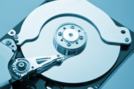 Close up image of SATA computer hard disk device. Stock Photo - 14851251