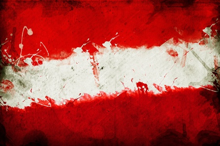 overlaying: Flag of Austria, image is overlaying a grungy texture