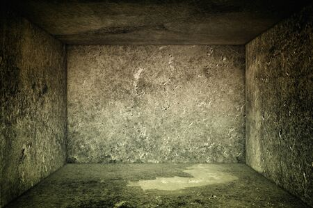Obsolete gray grunge concrete room, urban texture background Stock Photo - 15220636