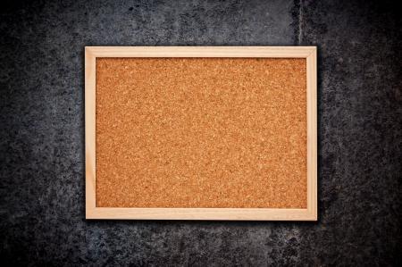 corkboard: Nice cork memory board with wooden frame Stock Photo