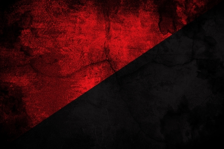 anarchy: Flag of the anarcho-communist movemnet over  agrunge texture Stock Photo