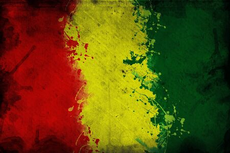 guinea: Flag of Guinea, image is overlaying a grungy texture