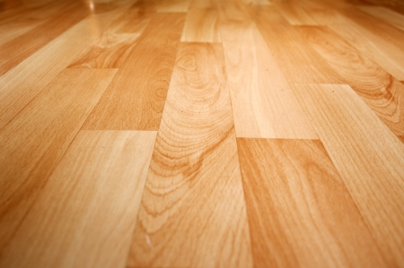 laminate: Close up detail of a beautiful wooden brown laminated floor Stock Photo