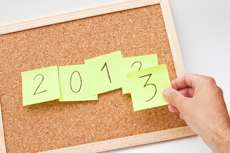 next year: Happy new 2013th year, next year conceptual image  Stock Photo