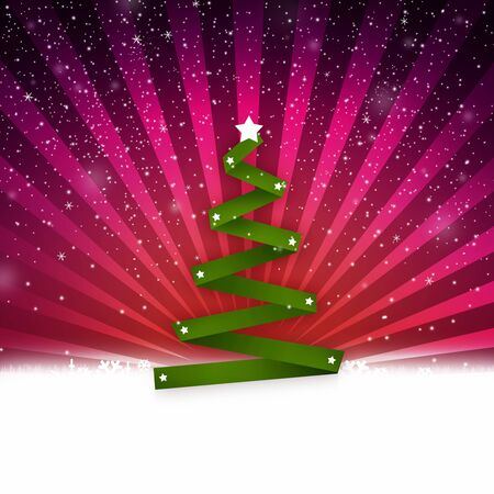 christmass tree: Simple abstract christmass tree on a vivid background; christmass and new year holidays season conceptual image.