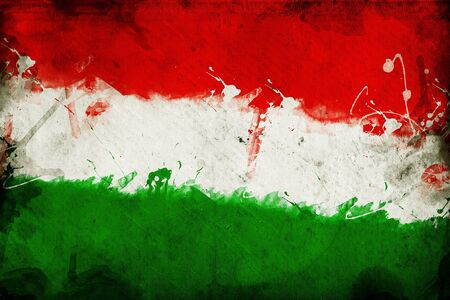 overlaying: Flag of Hungary, image is overlaying a grungy texture.