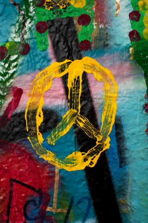 john: Detail from a famous Lennon wall in Prague