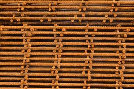 reinforcing: reinforcing mesh, steel bars stacked for construction
