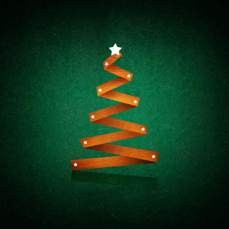 Simple abstract christmass tree on a chalkboard background; christmass and new year holidays season conceptual image. photo