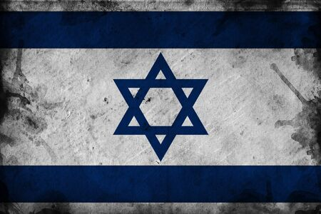 jews: Grunge flag of Israel, image is overlaying a detailed grungy texture