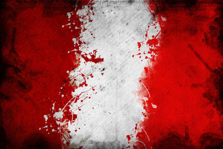 overlaying: Flag of Peru, image is overlaying a grungy texture.