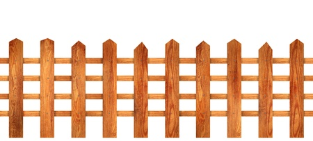 Beautiful wooden fence with natural wood pattern slats Stock Photo - 16772034