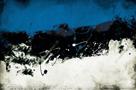 overlaying: Grunge Estonian flag, image is overlaying a detailed grungy texture