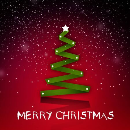 christmass: Simple abstract christmass tree on a vivid background; christmass and new year holidays season conceptual image.