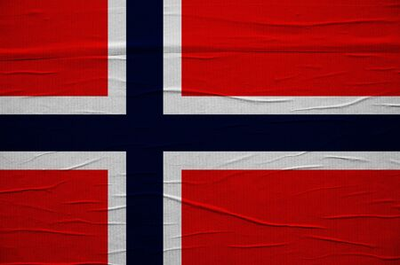Grunge flag of Norway, image is overlaying a detailed grungy texture photo