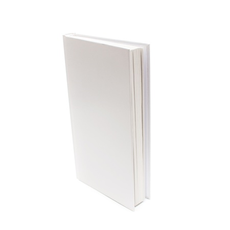 Blank book with white cover on white background. Stock Photo - 17316889