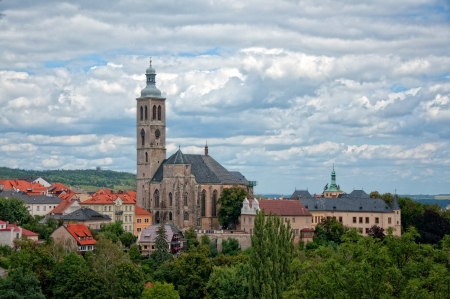 Kutna hora, small town near the Prague, panoramic view Stock Photo - 17317590