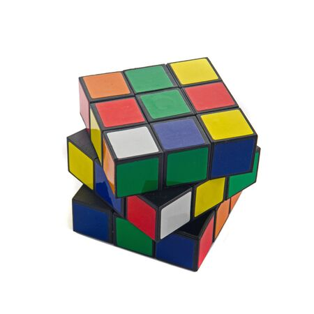 Magic cube, image is isolated over a white bacground