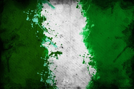 overlaying: Flag of nigeria, image is overlaying a grungy texture.