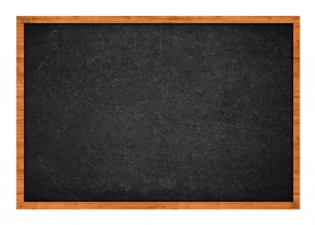 rasa: Grungy black chalkboard with wooden frame isolated on white background