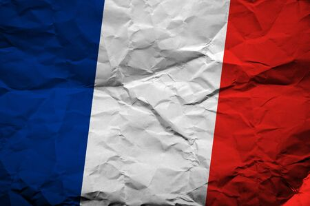 overlaying: French flag, image is overlaying a grungy paper texture