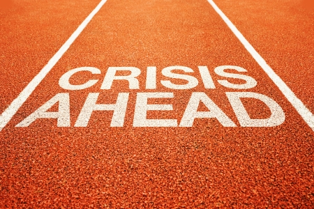 Crisis ahead warning on athletics all weather running track photo