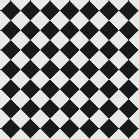 checkerboard: Black and white checkered floor tiles with texture. This tiles seamlessly as a pattern.