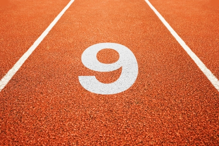 all weather: Number nine on athletics all weather running track
