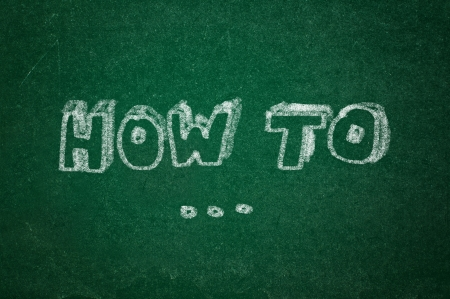 rasa: How to question on green chalkboard background