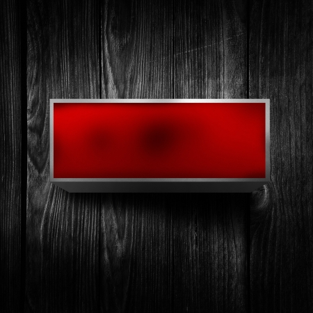 Vintage electric red light display over a dark, grunge background. Stock Photo - 20418511