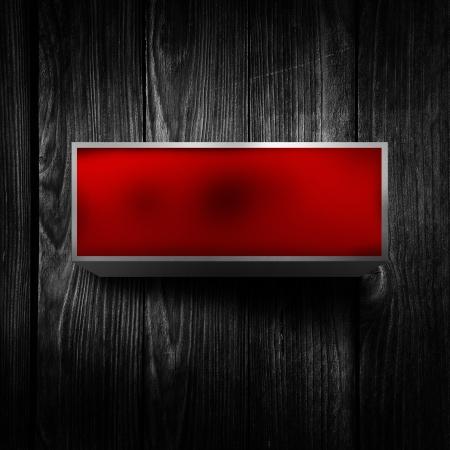 light display: Vintage electric red light display over a dark, grunge background.