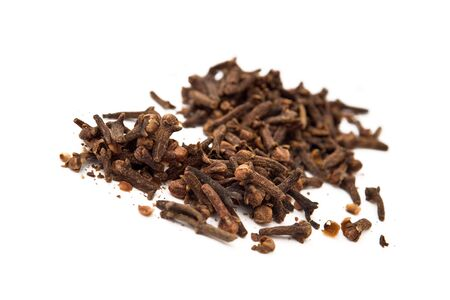 ingedient: Clove, food ingedient over white background. Stock Photo