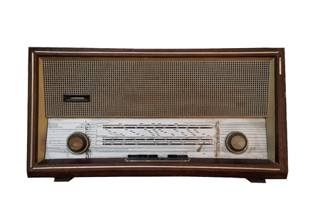 transistor: Beautiful old vintage wooden radio receiver device