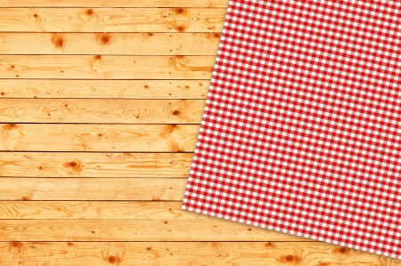 Table kitchen napkin on wooden background  Stock Photo